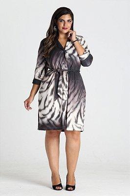 Vestido Ceres animal print de camurça - VEIN1702