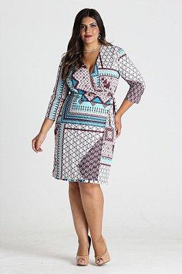 Vestido Avalon estampado em malha - VEIN1704a