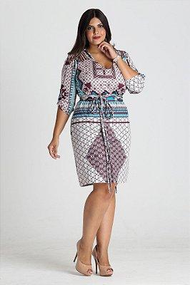 Vestido Billflower estampado em malha - VEIN1707a