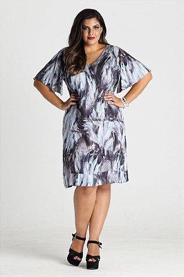 Vestido Burbank em viscose com decote V - VEIN1716