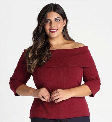 Blusa Etna canelada ombro a ombro - BLIN1713