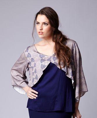 Blusa Margot em viscose com falsa capa - BLIN1616