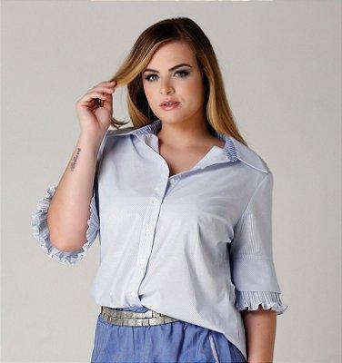 Camisa Luisa com botões e babadinhos na manga - CAV1702