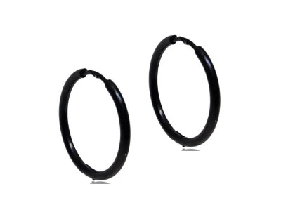 Brinco Masculino Black 17mm de Diâmetro - Aço Inoxidável - PAR