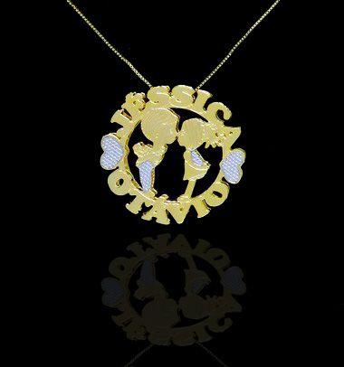 Colar com nome mandala até 2 nomes coleção apaixonados folheado a ouro 18k