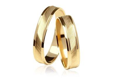 Aliança de Ouro 18k Fina Elegance 4mm