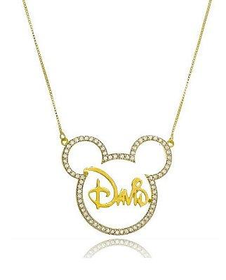Colar Mickey Personalizado Folheado a Ouro 18k