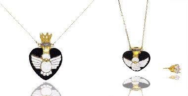 Colar feminino com Pingente de Coração Perfumeiro Folheado a Ouro 18k