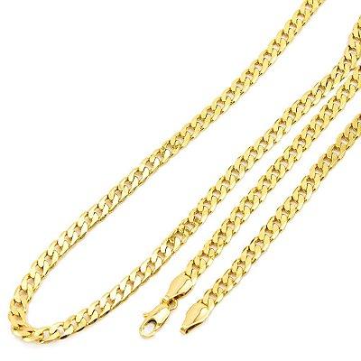 Corrente Masculina Folheada a Ouro 18k com 5 mm de Largura