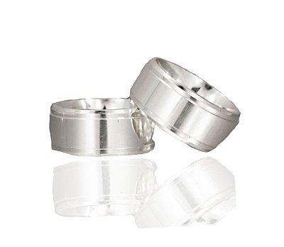 Aliança Namoro Prata 925 10mm - PAR