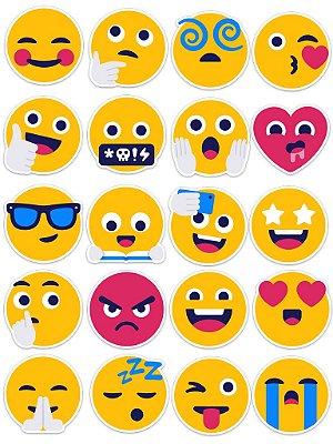 Ímãs Decorativos Emojis Set A - 20 unid