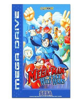 Ímã Decorativo Capa de Game - Mega Man The Wily Wars - ICG73
