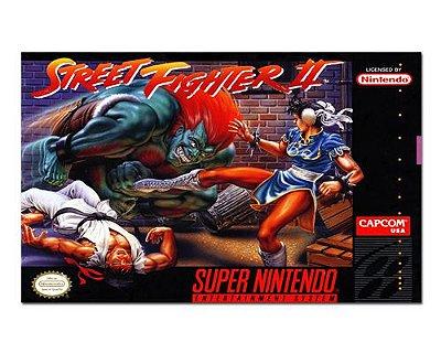 Ímã Decorativo Capa de Game - Street Fighter 2 - ICG109