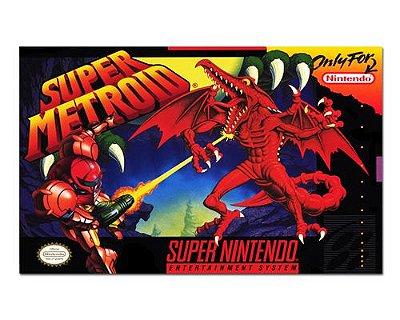 Ímã Decorativo Capa de Game - Super Metroid - ICG115