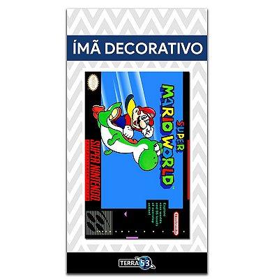 Ímã Decorativo Capa de Game - Super Mario World - ICG117