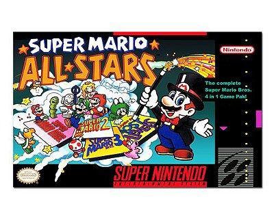 Ímã Decorativo Capa de Game - Super Mario All-Stars - ICG118