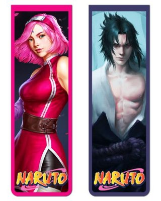 Pack Marcador Magnético - Sasuke e Sakura - Naruto - PKN25