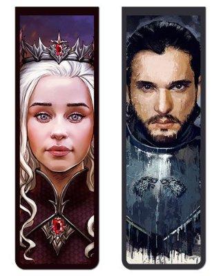 Pack Marcador Magnético - Jon Snow e Daenerys - Game of Thrones - PKN30
