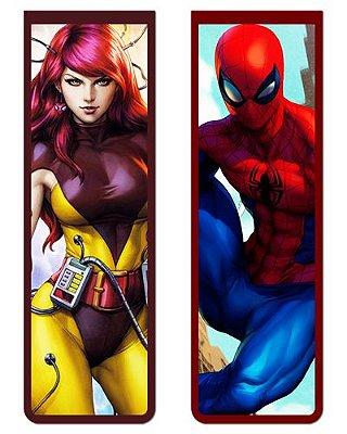 Pack Marcador Magnético - Mary Jane e Spider-Man - PKN36