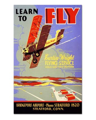 Ímã Decorativo Publicidade Aviões - Vintage - IPV29