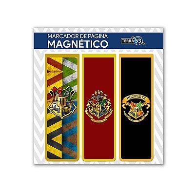 Pack Marca Página Magnético Hogwarts - Harry Potter - KIM05