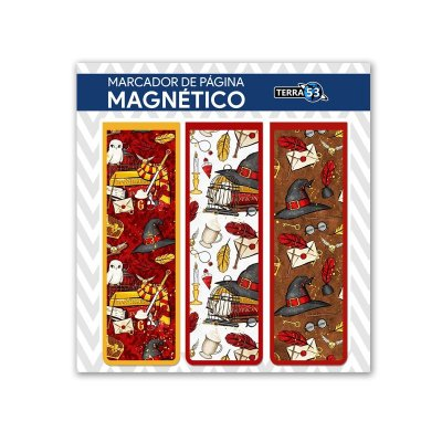 Pack Marca Página Magnético Grifinória - Harry Potter - KIM06