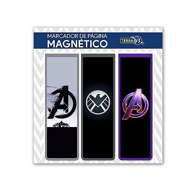 Pack Marca Página Magnético Os Vingadores - Marvel - KIM08