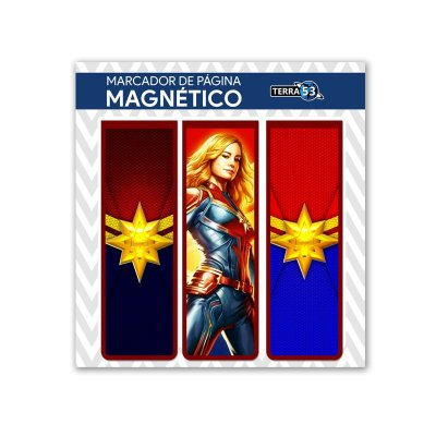 Pack Marca Página Magnético Capitã Marvel - Marvel - KIM10