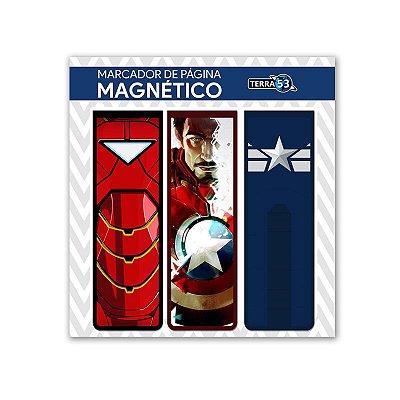 Pack Marca Página Magnético Civil War - Marvel Comics - KIM11