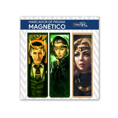 Pack Marca Página Magnético Loki e Sylvie - Marvel Comics - KIM13