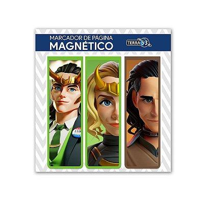 Pack Marca Página Magnético Loki e Sylvie - Marvel Comics - KIM14