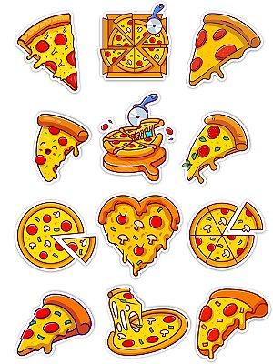 Ímãs Decorativos Pizza Gourmet Set H - 12 unid
