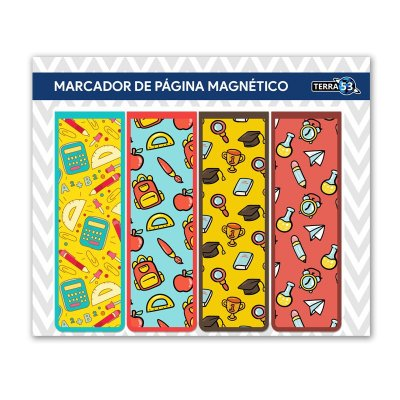 Pack Marcador de Página Magnético Escolar - School - KIE05