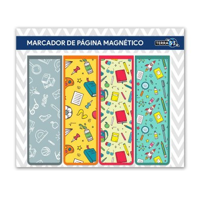 Pack Marcador de Página Magnético Escolar - School - KIE06