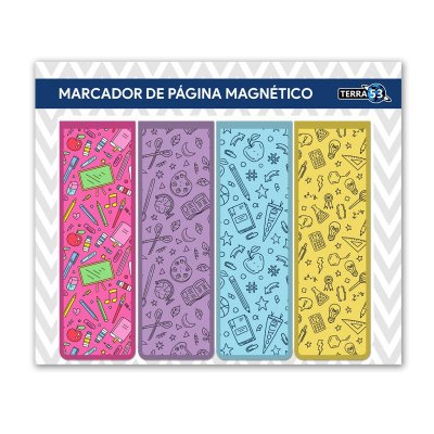Pack Marcador de Página Magnético Escolar - School - KIE08