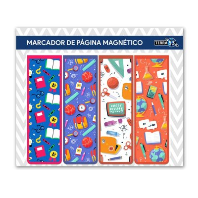 Pack Marcador de Página Magnético Escolar - School - KIE09