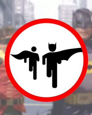 Placa Decorativa - Bat Run - Batman DC Comics