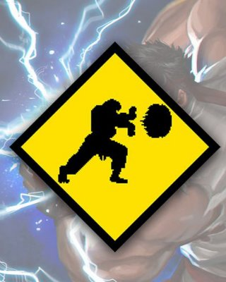 Placa Decorativa - Hadouken Ryu - Street Fighter