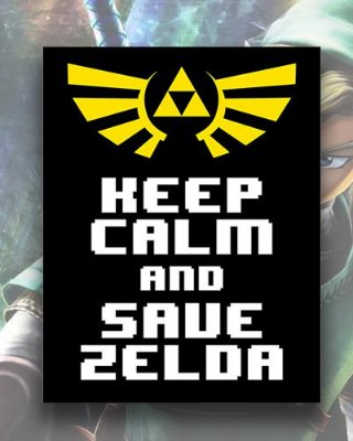 Placa Decorativa - Keep Calm and Save Zelda