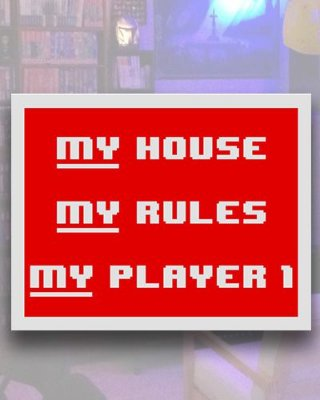 Placa Decorativa - My House My Player