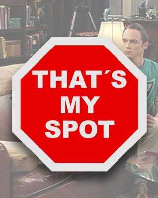 Placa Decorativa - That's My Spot - The Big Bang Theory