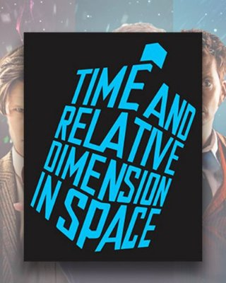 Placa Decorativa - Time and Space - Doctor Who