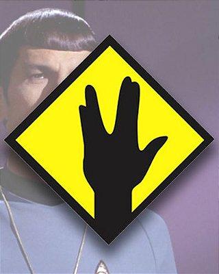 Placa Decorativa - Vida Longa e Próspera - Star Trek