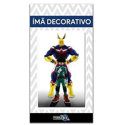 Ímã Decorativo Midoriya e All Might - My Hero Academia - MHA010