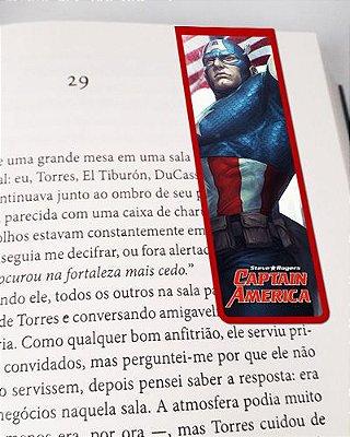 Marcador De Página Magnético Capitão América - CAP02