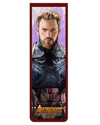 Marcador De Página Magnético Capitão América - Avengers - MAVI06
