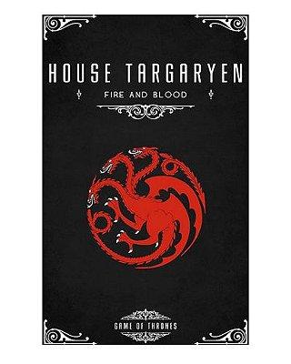 Ímã Decorativo House Targaryen - Game of Thrones - IGOT40