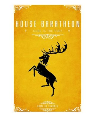 Ímã Decorativo House Baratheon - Game of Thrones - IGOT41