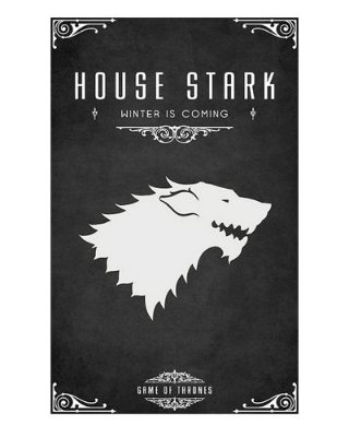 Ímã Decorativo House Stark - Game of Thrones - IGOT42
