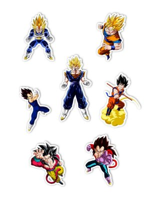 Ímãs Decorativos Dragon Ball Set A - 7 unid